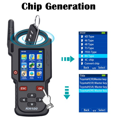 【Special Offer】Lonsdor KH100 Hand-Held Remote Programmer Simulate/Generate Chip/Detect IMMO