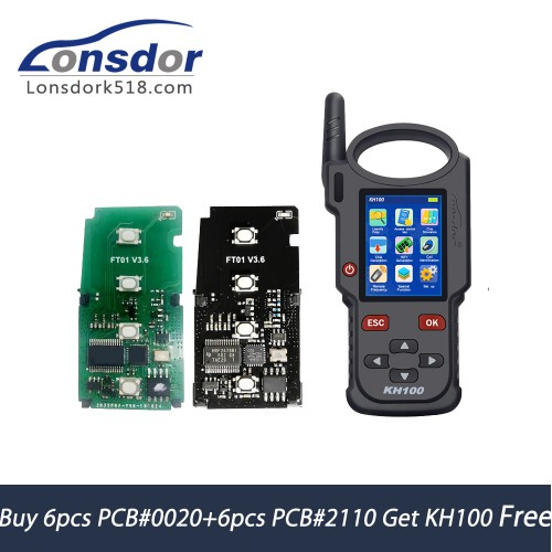 Buy 12pcs Lonsdor FT01 Series Toyota Smart Key (6pcs PCB #0020 + 6pcs PCB #2110) Get Lonsdor KH100 Free