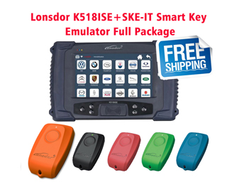 【5% OFF 】Lonsdor K518ISE Key Programmer Plus SKE-IT Smart Key Emulator 5 in 1 set Full Package