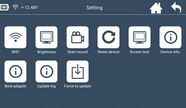 Lonsdor K518 Setting interface