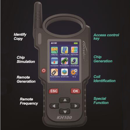 [US/UK Ship] Lonsdor KH100 Hand-Held Remote Programmer Simulate/Generate Chip/Detect IMMO
