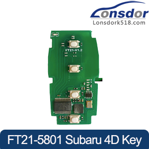 Lonsdor FT21-5801 314.35/433.92MHz Subaru 4D smart key PCB