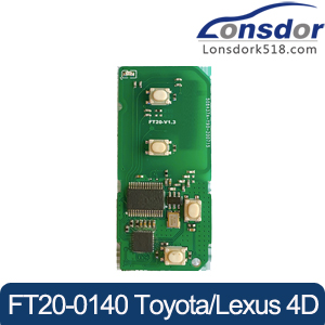 Lonsdor FT20-0140 314.35/433.92 MHz Toyota Lexus 4D Smart Key PCB