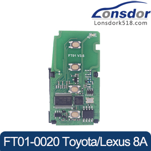Lonsdor FT01-0020 312/433MHz Smart Key PCB for Toyota/Lexus