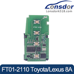Lonsdor FT01-2110 312/433MHz Smart Key PCB for Toyota/Lexus