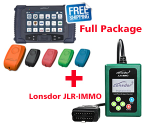 Lonsdor K518 Full Package with SKE-IT Smart Key Emulator 5 in 1 set Plus JLR IMMO Tool for JLR Key Programmer