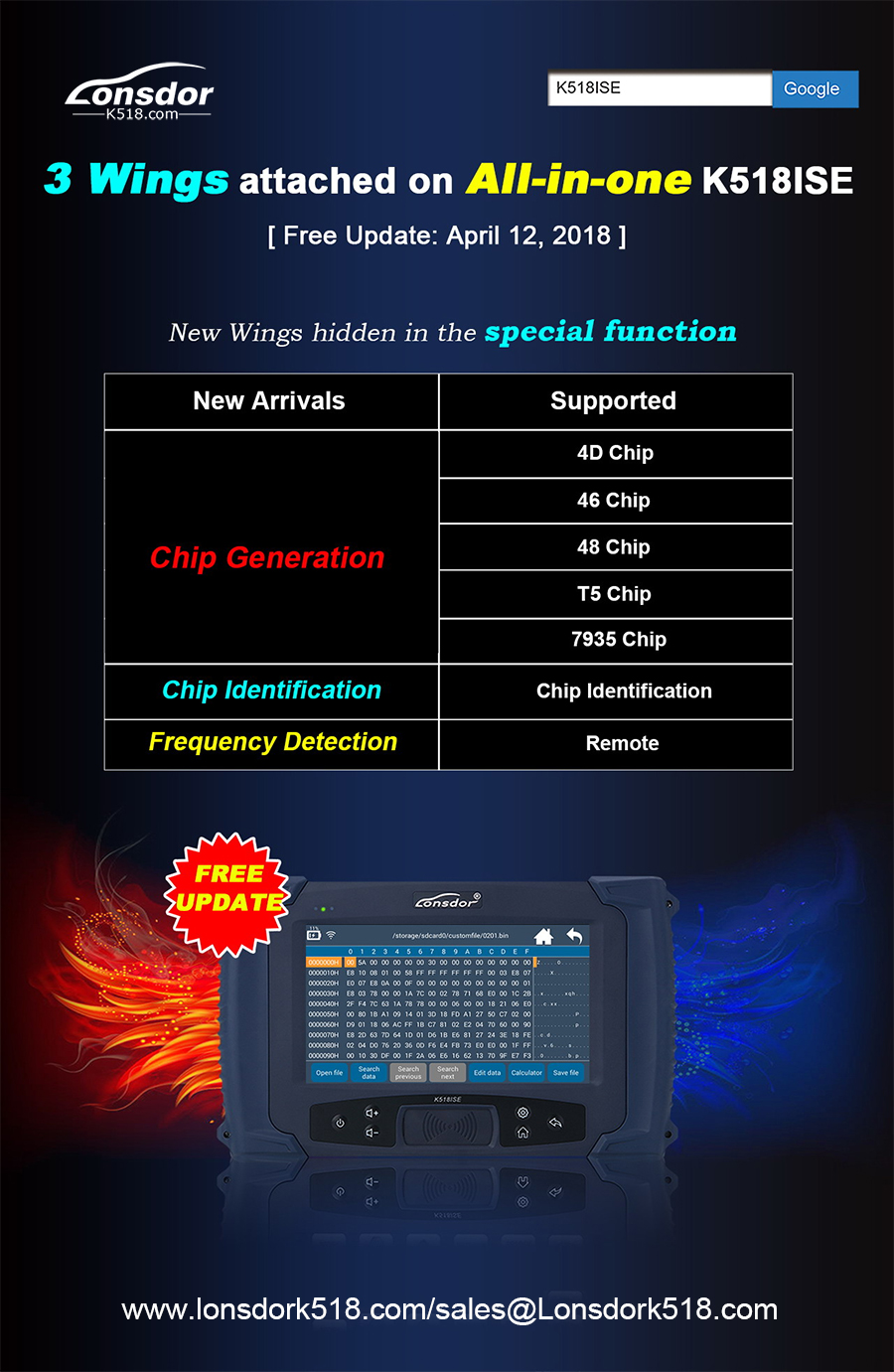 Lonsdor-Chip-generation-Chip-Recognition-Frequency-detection
